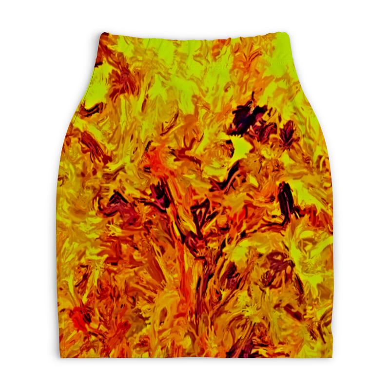 Юбка-карандаш укороченная Printio Яркая живопись юбка карандаш укороченная printio живопись