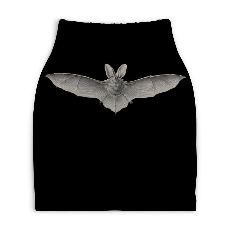 Юбка-карандаш укороченная Printio Летучая мышь, ernst haeckel юбка в складку printio blastoidea ernst haeckel