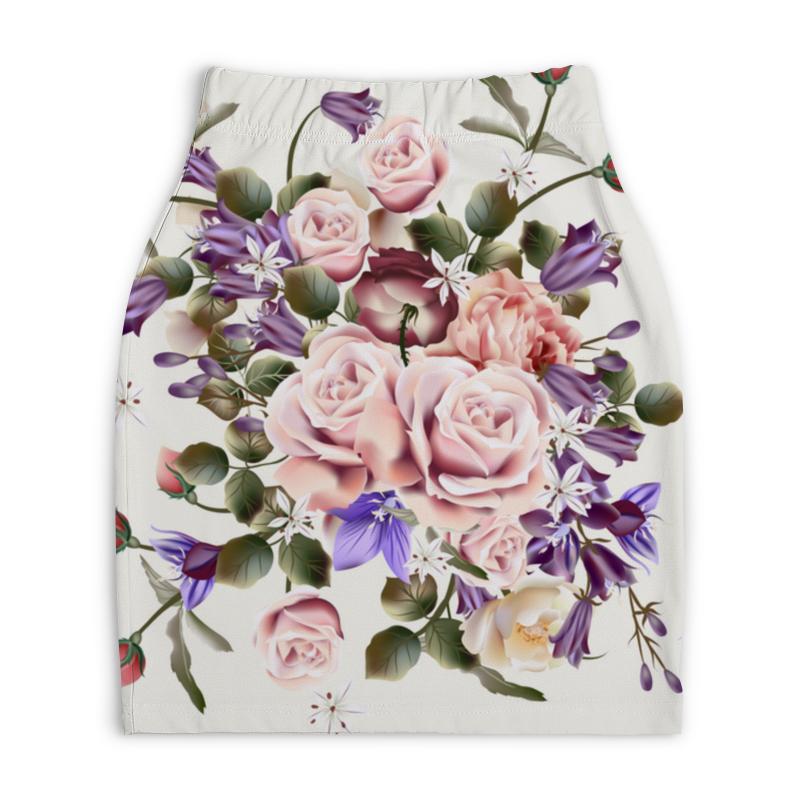 Юбка-карандаш укороченная Printio Розочки юбка карандаш укороченная printio букеты роз