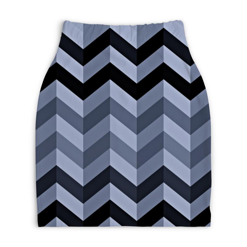 Юбка-карандаш укороченная Printio Волны юбка карандаш укороченная printio модерн