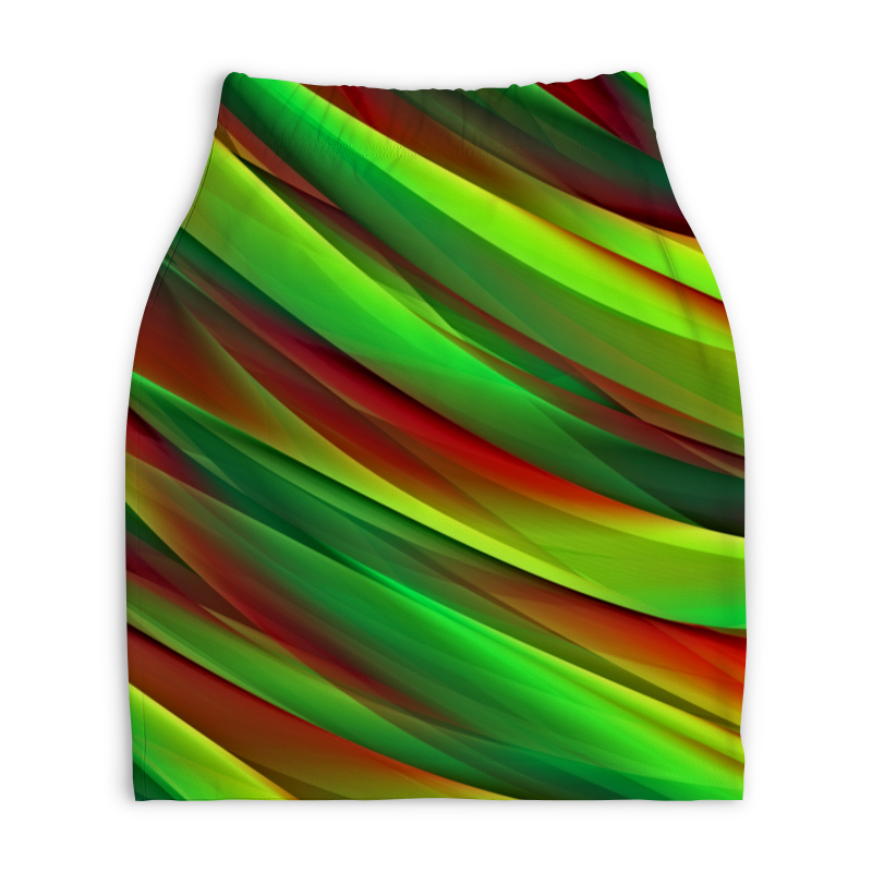 Юбка-карандаш укороченная Printio Полосы юбка карандаш printio цветные полосы