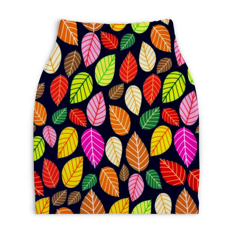 Юбка-карандаш укороченная Printio Листва юбка карандаш printio листва