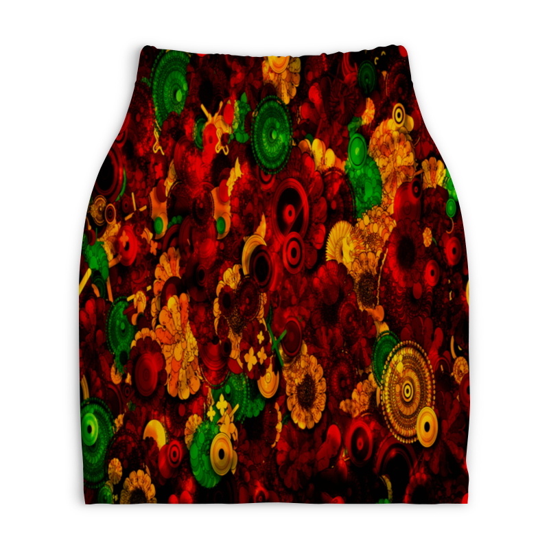 Юбка-карандаш укороченная Printio Цветочная поляна юбка карандаш printio цветочная сказка