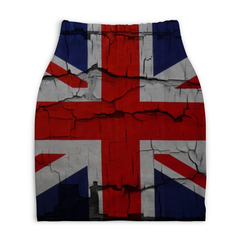 Юбка-карандаш укороченная Printio Британский флаг флаг пограничных войск россии великий новгород