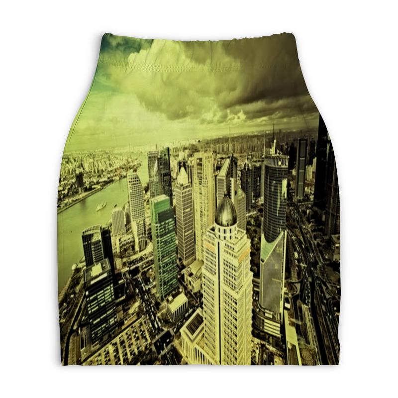 Юбка-карандаш укороченная Printio Мегаполис юбка карандаш укороченная printio ван гог