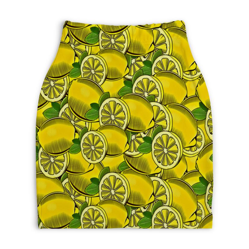 Юбка-карандаш укороченная Printio Лимон юбка карандаш printio райский сад