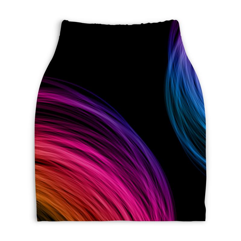 Юбка-карандаш укороченная Printio Абстракция юбка карандаш укороченная printio букеты роз