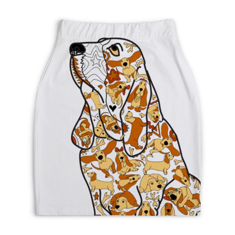 Юбка-карандаш укороченная Printio Смешная собака бассет купить щенкак в донецке бассет