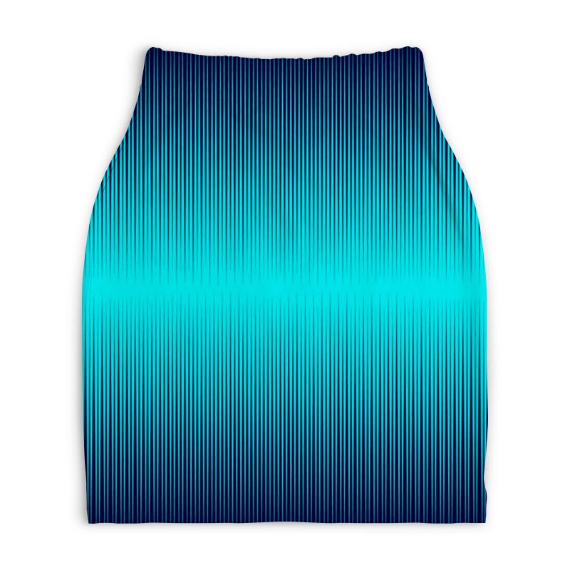 Юбка-карандаш укороченная Printio Синие полосы юбка карандаш printio цветные полосы