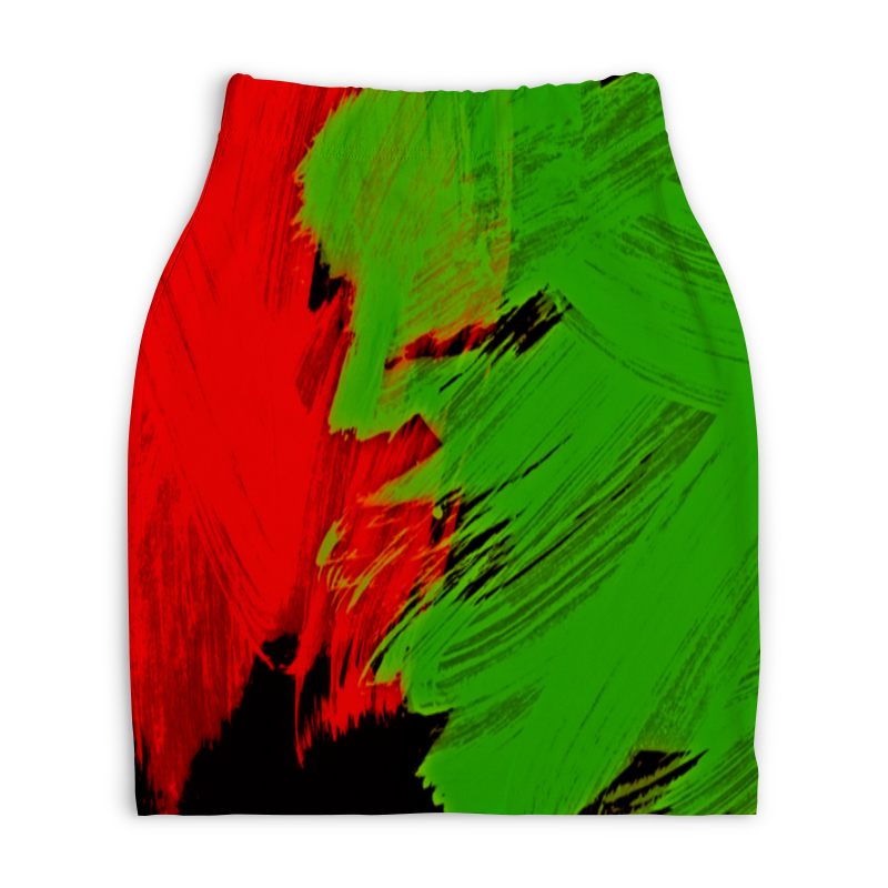 Юбка-карандаш укороченная Printio Битва красок юбка карандаш укороченная printio смесь красок