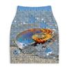 """Юбка-карандаш укороченная """"Ракушка в морской пене Паззл """" - морская раковина, ракушка в морской пене, морская ракушка, на берегу моря, паззл ракушка морская"""