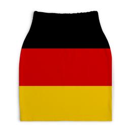 """Юбка-карандаш укороченная """"GERMANY"""" - style, флаги, german, europe, flags"""