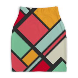 "Юбка-карандаш укороченная ""Модерн"" - узор, стиль, орнамент, абстракция, модерн"