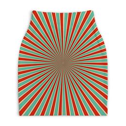 """Юбка-карандаш укороченная """"Полосатая"""" - узор, стиль, абстракция, полоса, орамент"""