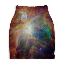 "Юбка-карандаш укороченная ""Космические краски"" - звезды, космос, небо, краски, галактика"