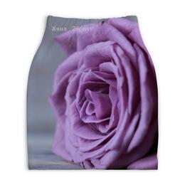 """Юбка-карандаш укороченная """"Anna Siverri"""" - весна цветок, роза, сирень, сиреневый, фиолетовый нежность любовь"""