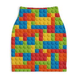 """Юбка-карандаш укороченная """"LEGO  """" - lego, конструктор, лего"""