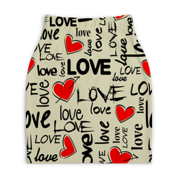 "Юбка-карандаш укороченная ""LOVE IS..."" - любовь, стиль, мода, флирт, амур"
