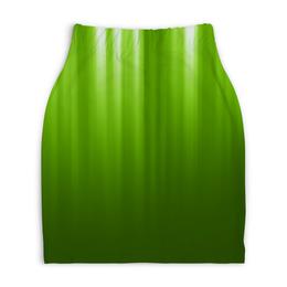 """Юбка-карандаш укороченная """"Зелёный фон"""" - зелёный, дизайн, графика, фон"""