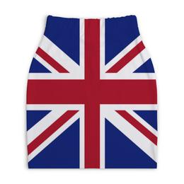 "Юбка-карандаш укороченная ""BRITISH"" - london, uk, великобритания, union jack, english"