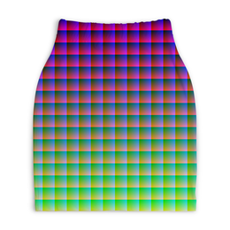 "Юбка-карандаш укороченная ""Optical Illusion"" - арт, дизайн, графика, абстракция, стиль"