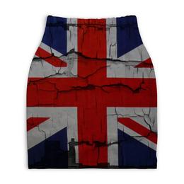 "Юбка-карандаш укороченная ""Британский Флаг"" - англия, британия, британский флаг"