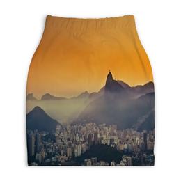 """Юбка-карандаш укороченная """"Рио-де-Жанейро"""" - мир, страны, города, рио, city"""