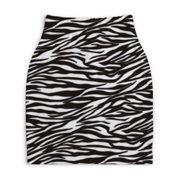 """Юбка-карандаш укороченная """"Зебра"""" - зебра, звериный, узор, стиль, рисунок"""