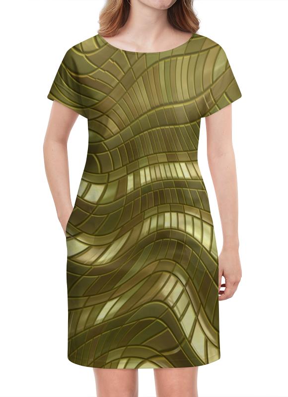 Платье летнее Printio Золотые полосы