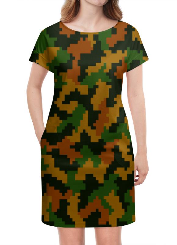 Платье летнее Printio Камуфляж песочный 3 обнаженный песочный