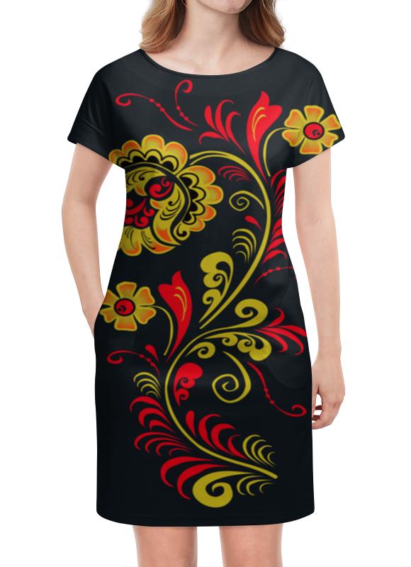 Платье летнее Printio Яркая хохлома хохлома в промыслах нижнегно новгорода