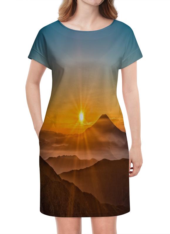 Платье летнее Printio Закат в горах платье летнее в москве