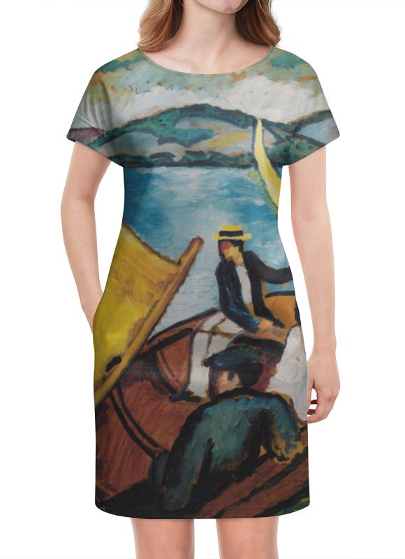 Платье летнее Printio Парусник в тегернзее (август маке) платье без рукавов printio парусник в тегернзее август маке