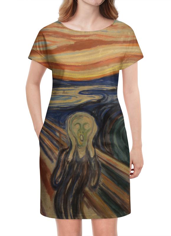 Платье летнее Printio Крик (картина мунка) тетрадь на скрепке printio крик картина мунка