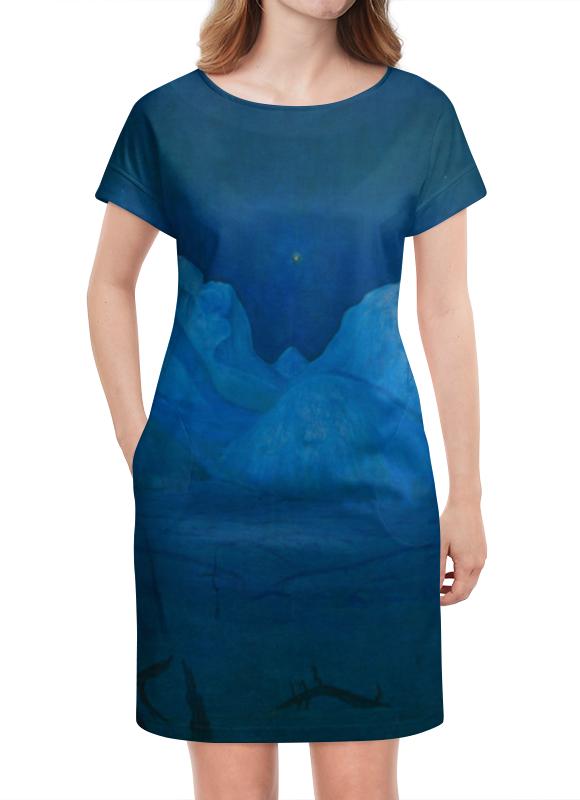 Платье летнее Printio Зимняя ночь в рондане (харальд оскар сольберг) зимняя резина на оку в москве