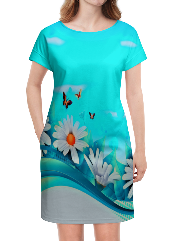 Платье летнее Printio Ромашки кофемашина delonghi dinamica ecam 350 15 b