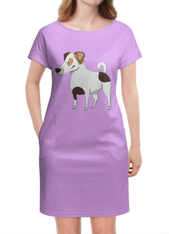 Платье летнее Printio Джек рассел.собака куплю джек рассел терьера в саратове