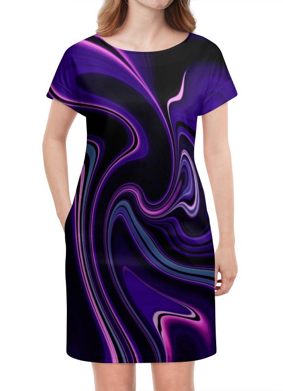 Платье летнее Printio Черно-синие краски