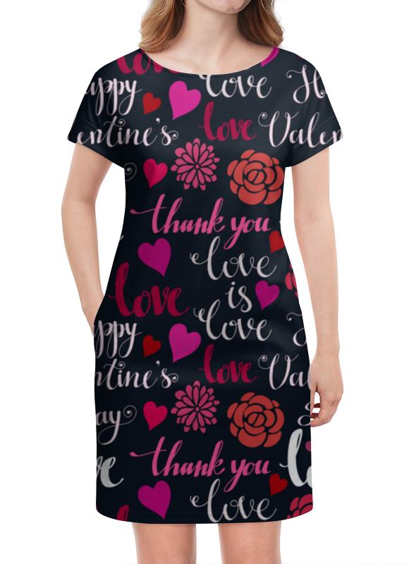Платье летнее Printio День св. валентина платье летнее printio мечты о любви