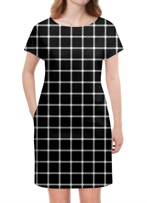 Платье летнее Printio Чёрная клетка пересечения
