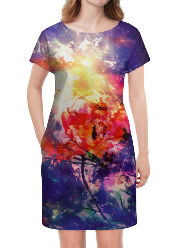 Платье летнее Printio Космический тюльпан
