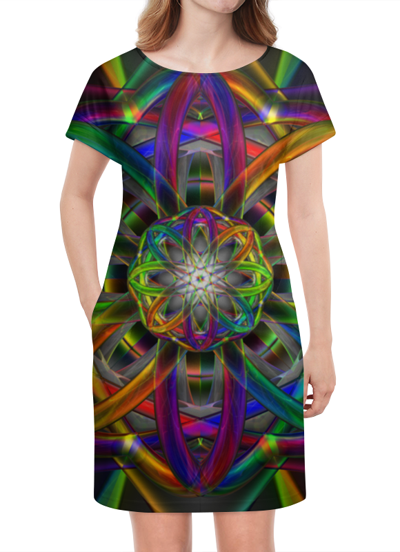 Платье летнее Printio Rainbow dimensions dimensions скалистый берег москва