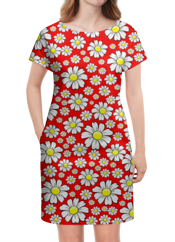 Платье летнее Printio Ромашки футболка классическая printio радостный крот
