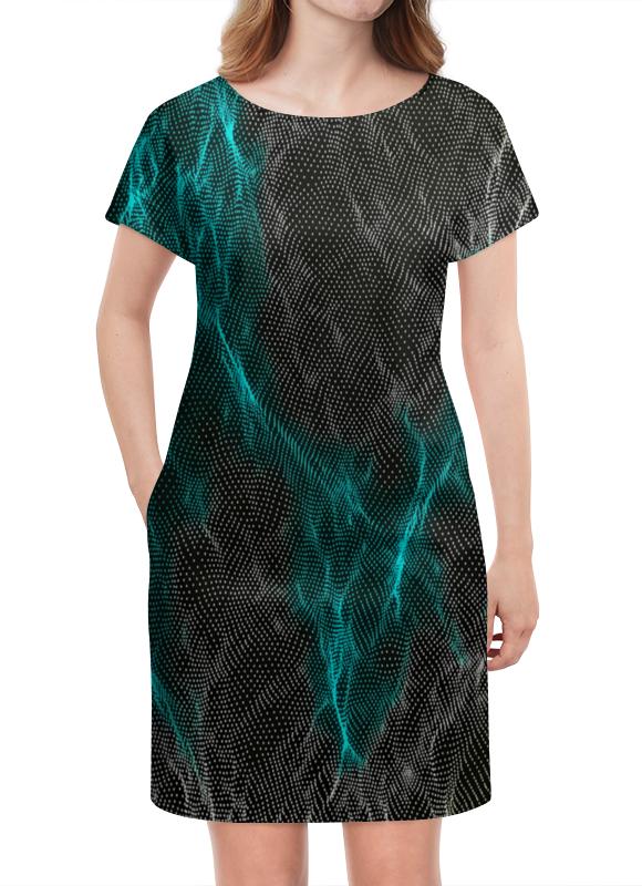 Платье летнее Printio Переливы шиммер алмазные переливы кристалл декор шиммер алмазные переливы