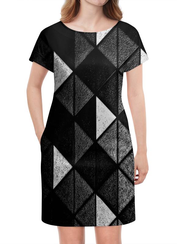 Платье летнее Printio Черно-белые фигуры