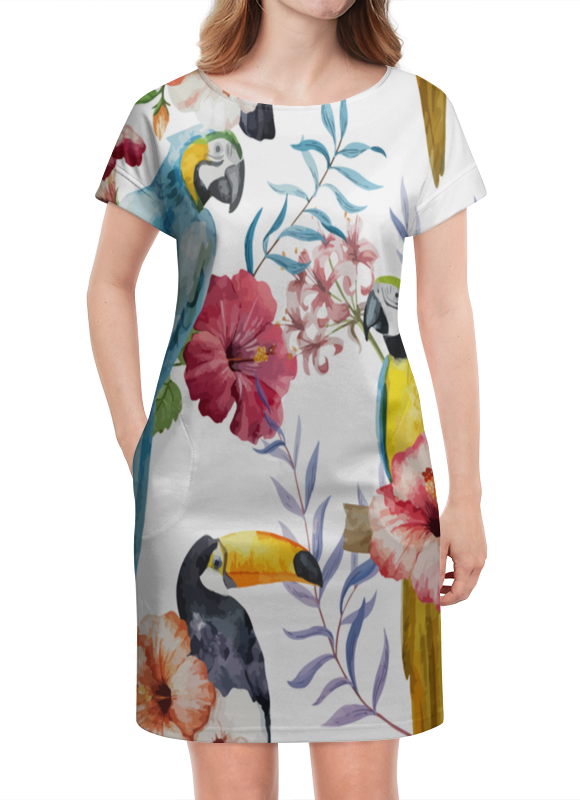 Платье летнее Printio Птицы перелетные птицы