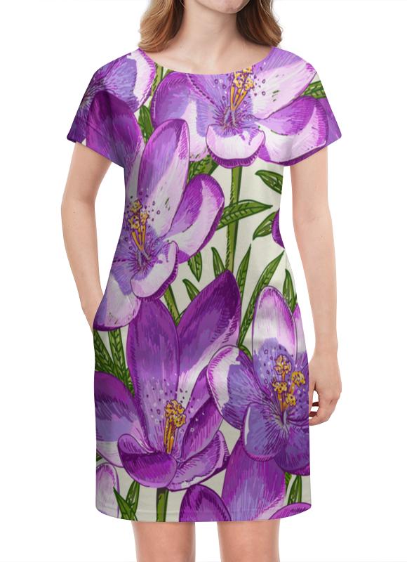 Платье летнее Printio Цветы printio платье летнее