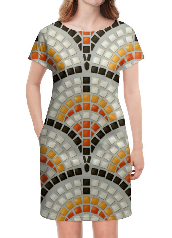 Платье летнее Printio Античная мозаика мозаика elada mosaic jsm jb068 327x327x8 мм античная жатая