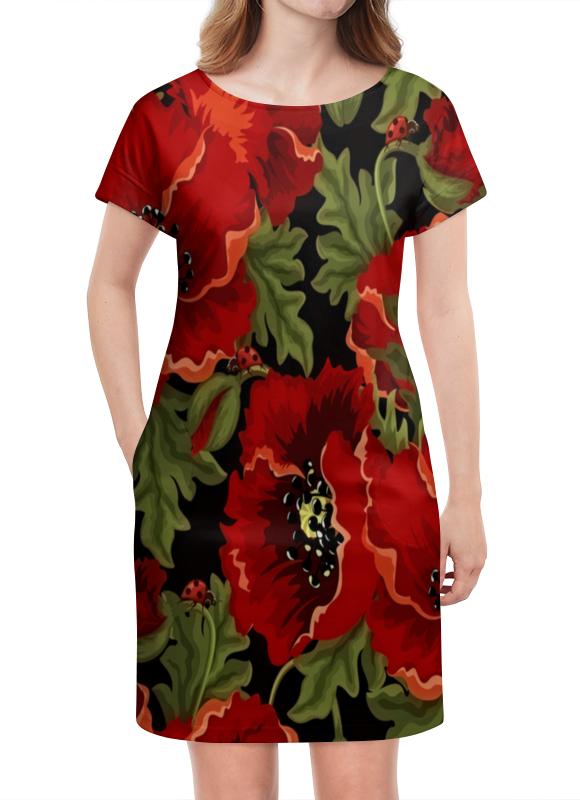 Платье летнее Printio Полевые маки юбка карандаш printio полевые маки
