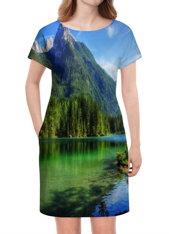 Платье летнее Printio Горное озеро горное гнездо